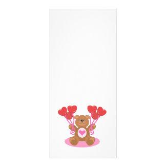 diseño lindo del oso de peluche de la tarjeta del  lonas publicitarias