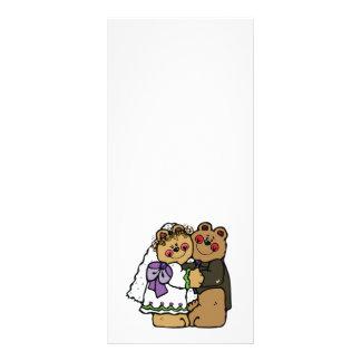 diseño lindo del oso de peluche de novia y del nov tarjetas publicitarias personalizadas
