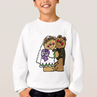 diseño lindo del oso de peluche de novia y del polera