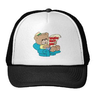 diseño lindo del oso de peluche del día de padres  gorro de camionero