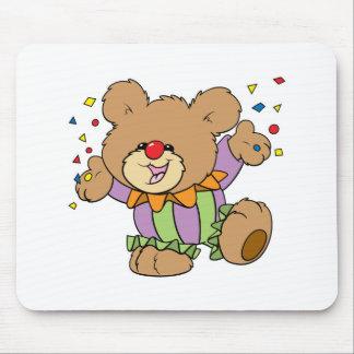 diseño lindo del oso de peluche del payaso del fie mouse pads
