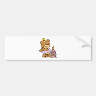 diseño lindo del oso de peluche del primer cumplea pegatina para auto