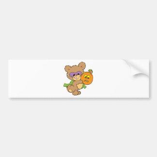 diseño lindo del oso de peluche del super héroe de pegatina de parachoque