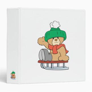 diseño lindo del oso de peluche del trineo del inv