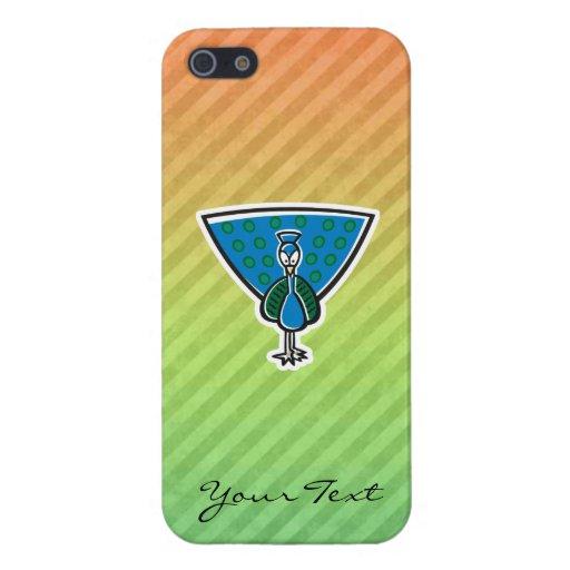 Diseño lindo del pavo real iPhone 5 carcasas
