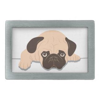 diseño lindo del perro de las drogas de los barros hebillas de cinturon rectangulares