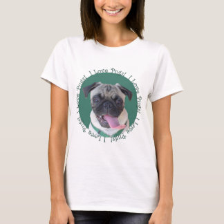 Diseño lindo del perro de los barros amasados del playera