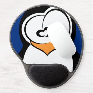 Diseño lindo del pingüino alfombrilla de ratón con gel
