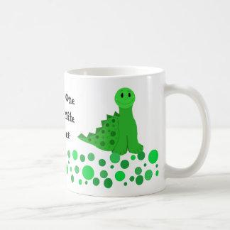 Diseño lindo del profesor del dinosaurio taza