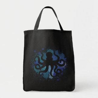 Diseño lindo del pulpo de la acuarela bolsa de mano
