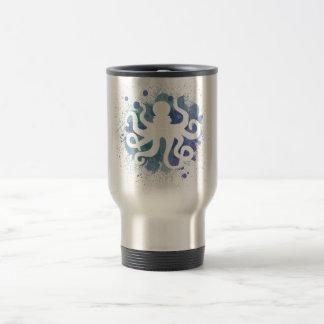 Diseño lindo del pulpo de la acuarela taza térmica