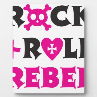 Diseño lindo del rosa del negro del rebelde del placas para mostrar
