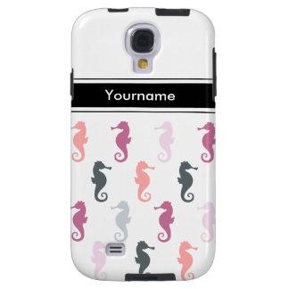Diseño lindo del Seahorse del monograma Funda Para Galaxy S4