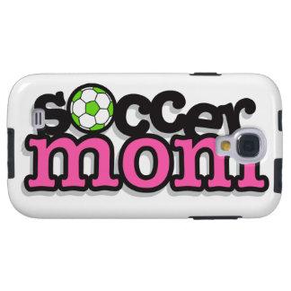 diseño lindo del texto de la mamá del fútbol funda galaxy s4