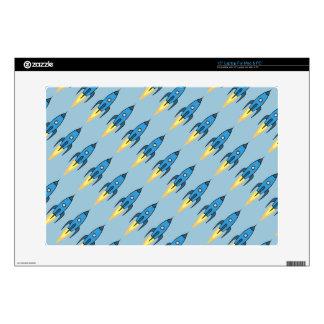 Diseño lindo retro azul del dibujo animado de portátil 38,1cm skins