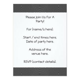 Diseño liso, elegante, blanco y negro invitación 16,5 x 22,2 cm
