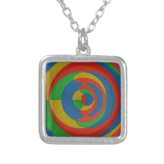diseño llamativo colorido colgante cuadrado