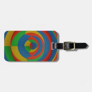 diseño llamativo colorido etiquetas para equipaje