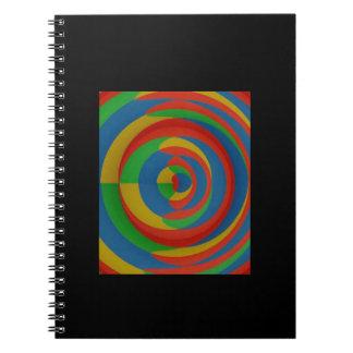 diseño llamativo colorido libreta espiral