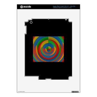 diseño llamativo colorido pegatinas skins para iPad 3