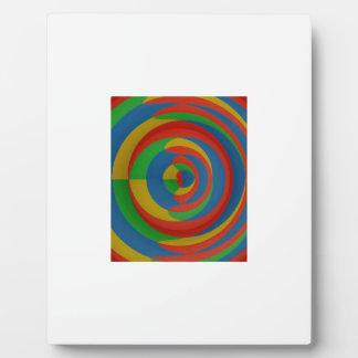 diseño llamativo colorido placas para mostrar