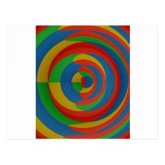 diseño llamativo colorido tarjeta postal