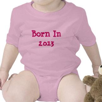 Diseño llevado juego del onsey del bebé en 2013 camisetas
