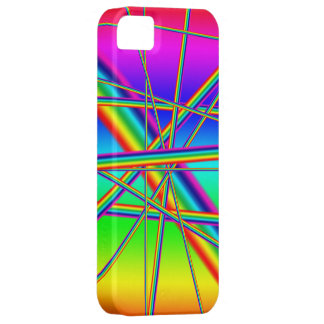 Diseño loco del arco iris iPhone 5 carcasas