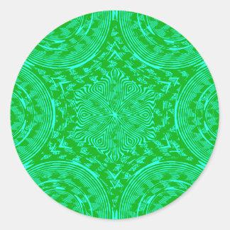 Diseño loco del remolino pegatina redonda