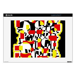 Diseño loco rojo y amarillo calcomanías para portátiles