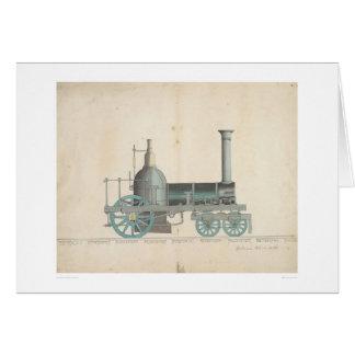 Diseño locomotor (1344) tarjeta de felicitación