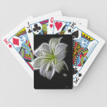 Diseño luminoso del lirio barajas de cartas