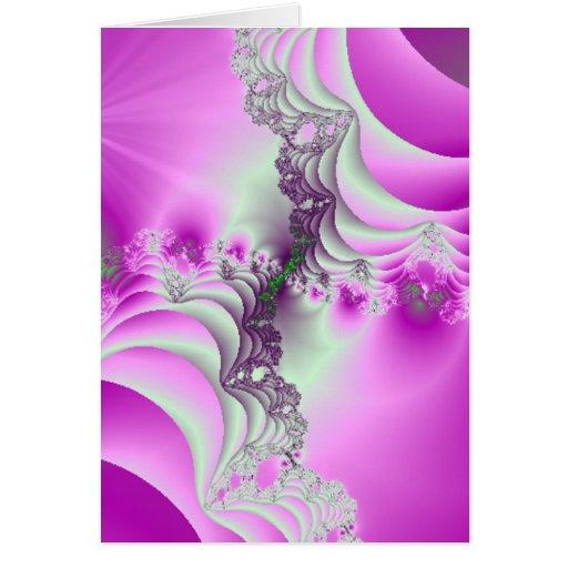 Diseño magenta del fractal de la majestad tarjeta de felicitación