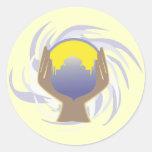 diseño mágico de la bola de cristal etiquetas redondas