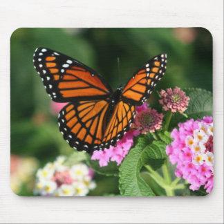 Diseño magnífico de la mariposa de monarca tapete de ratón