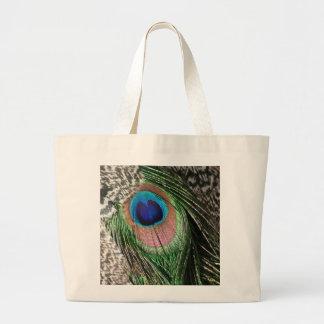 Diseño magnífico de la pluma del pavo real bolsa de mano