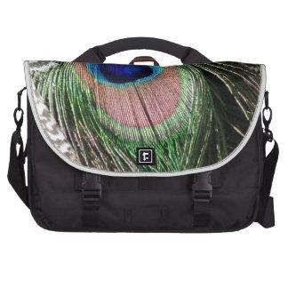 Diseño magnífico de la pluma del pavo real bolsas de portátil