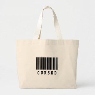 diseño maldecido del código de barras bolsa