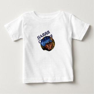 Diseño malhumorado del cangrejo de ermitaño del playera de bebé
