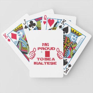 Diseño maltés baraja cartas de poker