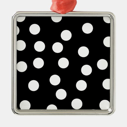Diseño manchado blanco y negro adorno cuadrado plateado
