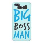 Diseño mandón agradable del hombre del gran jefe c iPhone 5 funda