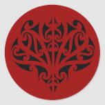 Diseño maorí pegatina redonda