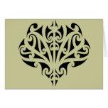 Diseño maorí tarjetón