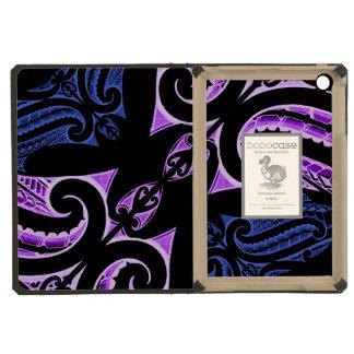 Diseño maorí tradicional azul púrpura del tatuaje