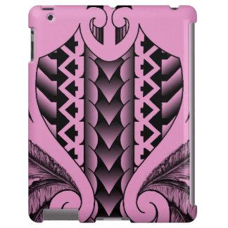 diseño maorí tribal coloreado del tatau con las funda para iPad