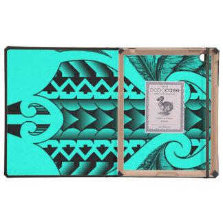 diseño maorí tribal coloreado del tatau con las