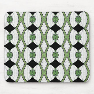 Diseño maravilloso de la materia textil antigua de alfombrillas de ratón