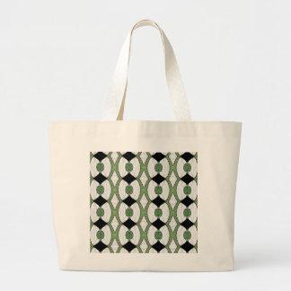 Diseño maravilloso de la materia textil antigua de bolsa tela grande