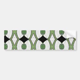 Diseño maravilloso de la materia textil antigua de pegatina para auto